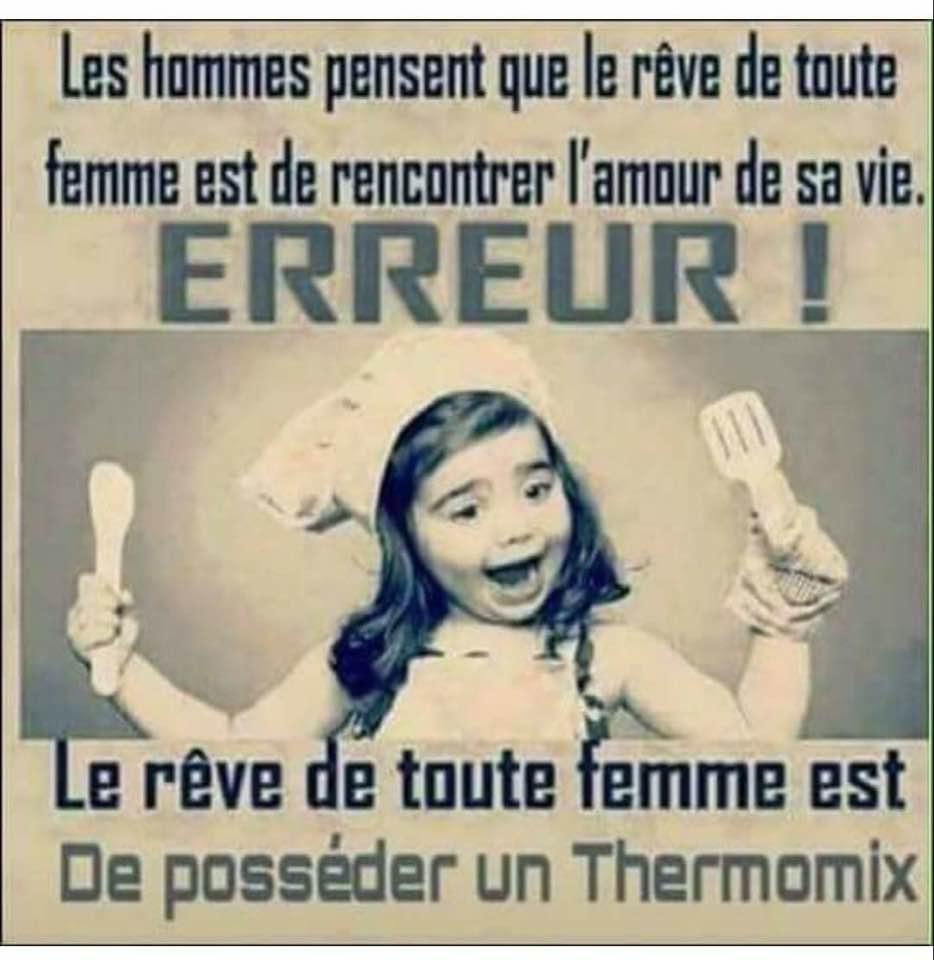 Phrase d'humour sur le Thermomix TM5