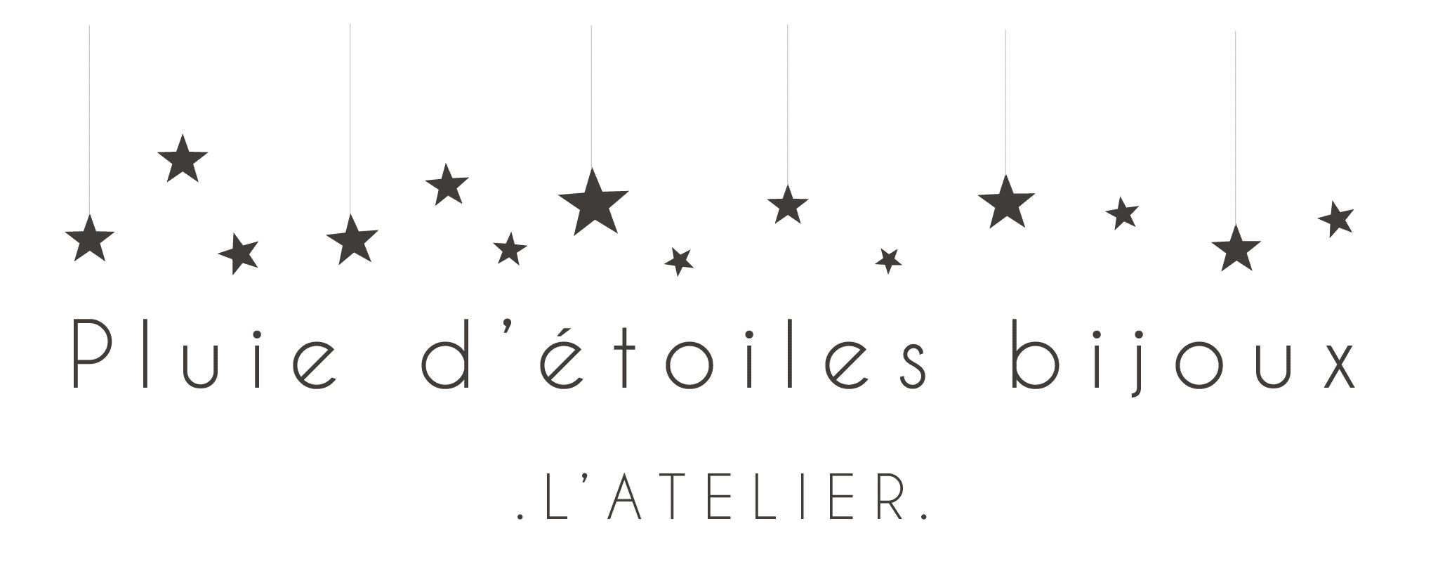 Logo de Pluie d'étoiles Bijoux, une marque Made in France
