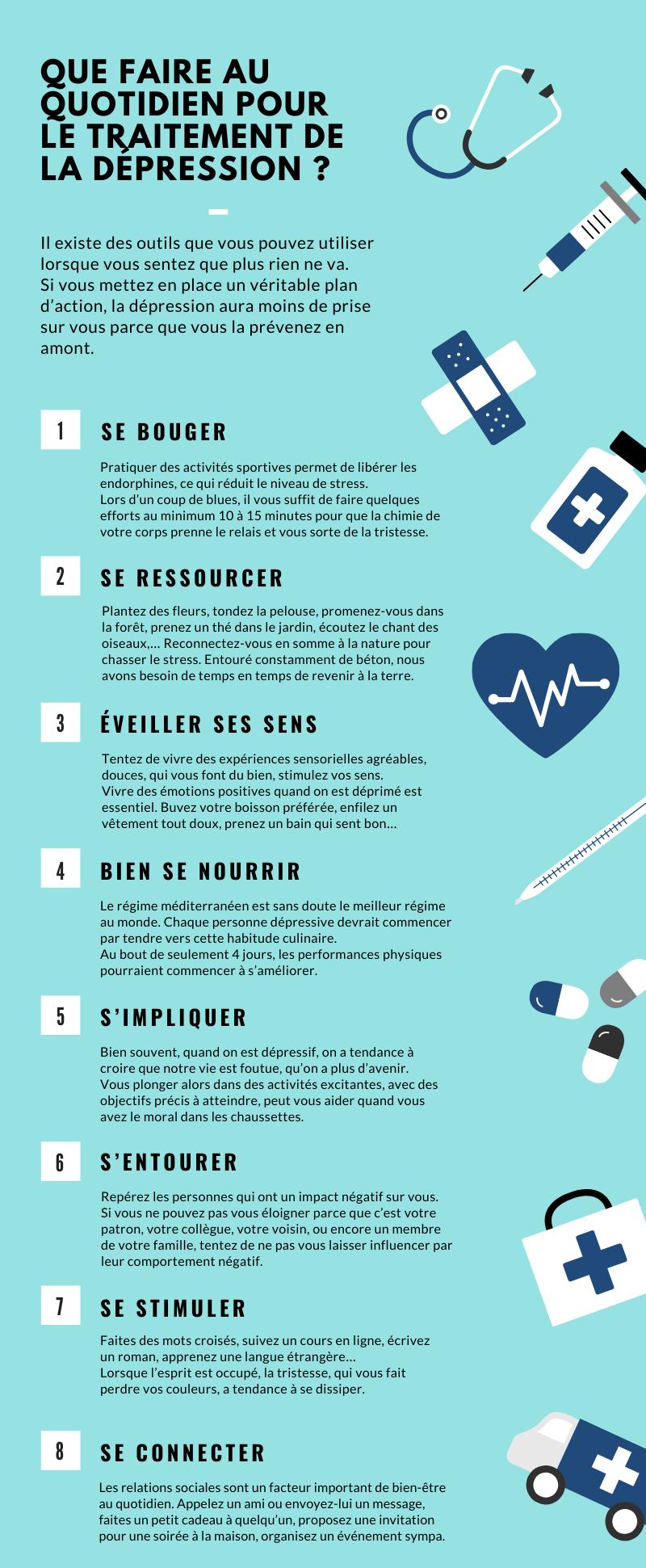 Infographie pour lutter contre la dépression au quotidien